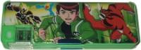 Karta Ben10 Dual Sharpner Art Plastic Pencil Box (Set Of 1, Green)