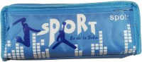 Peppy Sport Sport Theme Art Synthetic Pencil Box (Set Of 1, Sky Blue)