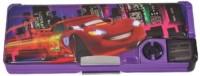 Disney Cars Cartoon Characters Art Plastic Pencil Box (Set Of 1, Muticolor)