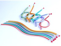 Coi FLEXIBLE EASY BEND PENCILS WITH ERASERS Round Shaped Pencils (Set Of 1, MULTI COLOUR)