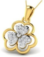 His & Her Love Forever 18kt Diamond Yellow Gold Pendant - PELECK5HMNGZD3TJ