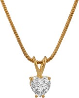 Voylla 18K Yellow Gold Plated Cubic Zirconia Alloy Pendant