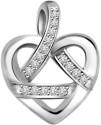 Surat Diamond Heart White Gold 14K White Gold Plated Pendant - PELDU833GQHTY4AK