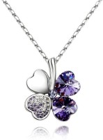Crunchy Fashion Clover Rhodium Plated Alloy Pendant