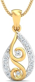 Stylori Enzyua Twine 18kt Diamond Yellow Gold Pendant