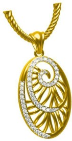 Sakshi Jewels Love Forever 14K Yellow Gold 14K Diamond Gold Pendant