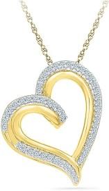Radiant Bay Halo Heart 18K Diamond Yellow Gold Pendant