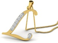 Full Cut Diamond Love Forever 18K Yellow Gold Plated 18K Diamond Gold Pendant - PELEBFM2URY5H7VF