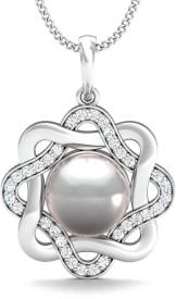 Stylori Disha Pearl Pave 18kt Diamond White Gold Pendant