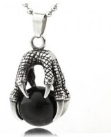 Vaishnavi Beautifuly Gothic Dragon Claw Designed Unisex Made Of 316l Surgical Black Silver Stainless Steel Pendant