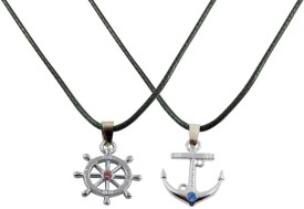Alphaman Refuse To Sink Couple Pendant Alloy, Leather