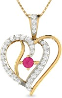 WearYourShine By PC Jewellers PC Jeweller The Ashinca 18kt Diamond, Ruby Yellow Gold Pendant