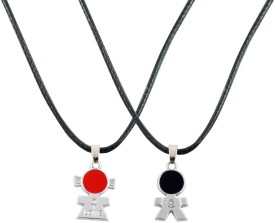 Alphaman Peace In World Brings People Together Couple Pendant Alloy, Leather