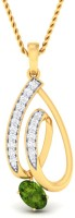 WearYourShine By PC Jewellers The Rohani 18kt Diamond, Emerald Yellow Gold Pendant