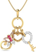 WearYourShine By PC Jewellers PC Jeweller The Mixed Desires 18kt Diamond, Ruby Yellow Gold Pendant