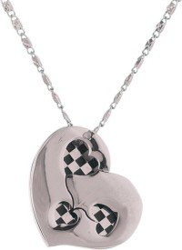 Voylla Artificial Classic Glossy Silver Stainless Steel Pendant