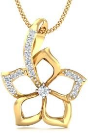 Stylori Caloda Flora 18kt Diamond Yellow Gold Pendant