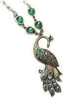 Fashionzaadi Vintage Elegant Enamel Peacock Alloy, Crystal, Plastic Pendant