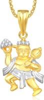 Meenaz Hanuman God Pendant With Chain For Men And Women Brass Cubic Zirconia, Crystal Alloy Pendant