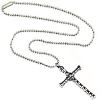 Men Style Silver Metal Jesus Christ Crucifix Christian Cross With Ring SPn08031 Stainless Steel Pendant