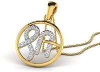 His & Her Love Forever 18kt Diamond Yellow Gold Pendant - PELECK5HK5Q7HBMB