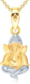 VK Jewels Maheshwaram Yellow Gold Cubic Zirconia Alloy Pendant
