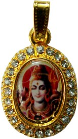 Beingwomen Elegant Gold Shiva Cubic Zirconia Alloy Pendant