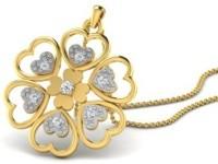 His & Her Love Forever 18kt Diamond Yellow Gold Pendant - PELECK5HWKQFPCDY