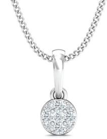 Stylori The Snowflaked Pendant 18kt Diamond White Gold Pendant