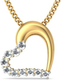 BlueStone The Adila Heart Gold Pendant