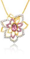 Mahi 24K Yellow Gold Plated Swarovski Crystal Brass, Alloy Pendant