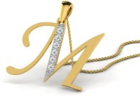 Full Cut Diamond Love Forever 18K Yellow Gold Plated 18K Diamond Gold Pendant - PELEBFM2HJYJ3E9H