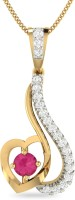 WearYourShine By PC Jewellers PC Jeweller The Tashmil 18kt Diamond, Ruby Yellow Gold Pendant