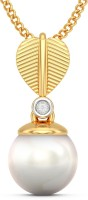BlueStone Cacy 18kt Diamond, Pearl Yellow Gold Pendant