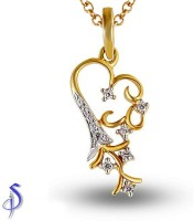 Shashvat Jewels 9K Yellow Gold Plated 9K Diamond Gold Pendant