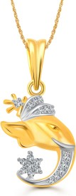 Vighnaharta Vedant Yellow Gold Cubic Zirconia Alloy Pendant