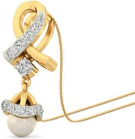 WearYourShine By PCJ The Joy Yellow Gold Plated 18K Diamond Gold Pendant