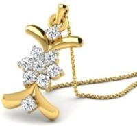 His & Her Love Forever 18kt Diamond Yellow Gold Pendant - PELECK5HFVCNHGDT