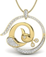 KuberBox The Peacock 14K Diamond Gold Pendant