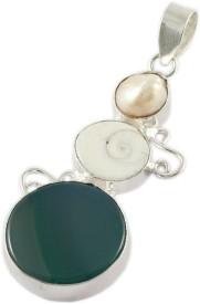 925 Silver Silver Onyx Metal Pendant
