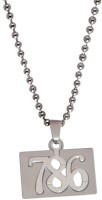 Men Style 786 Symbol In Square Stainless Steel Pendant Set