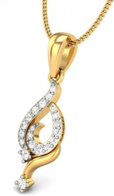 Candere Kamya 14kt Diamond Yellow Gold Pendant
