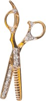 Jewellery For Every Profession JFP-10 Yellow Gold, White Gold Plated Zircon Silver Pendant