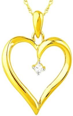 Gandhi Jewellers Real Natural Heart 14K Gold Pendant available at Flipkart for Rs.5959