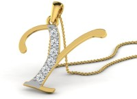 Full Cut Diamond Love Forever 18K Yellow Gold Plated 18K Diamond Gold Pendant - PELEBFM266BUYGVN