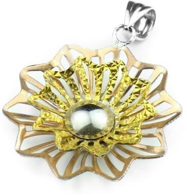 Swank Silver Italian Flower Sterling Silver Pendant