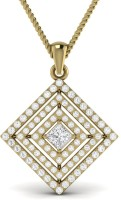Ciemme 18K Yellow Gold Plated Cubic Zirconia Sterling Silver Pendant - PELE7VEYYYSF8GWR