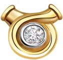 Surat Diamond Classic Two Tone Solitaire Yellow Gold 18K Yellow Gold Plated Pendant
