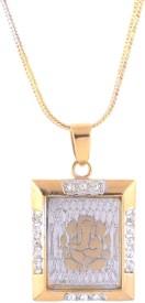 Sale Funda Yellow Gold Zircon Metal Pendant