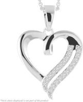Peora Art Of Love Rhodium Sterling Silver Pendant
